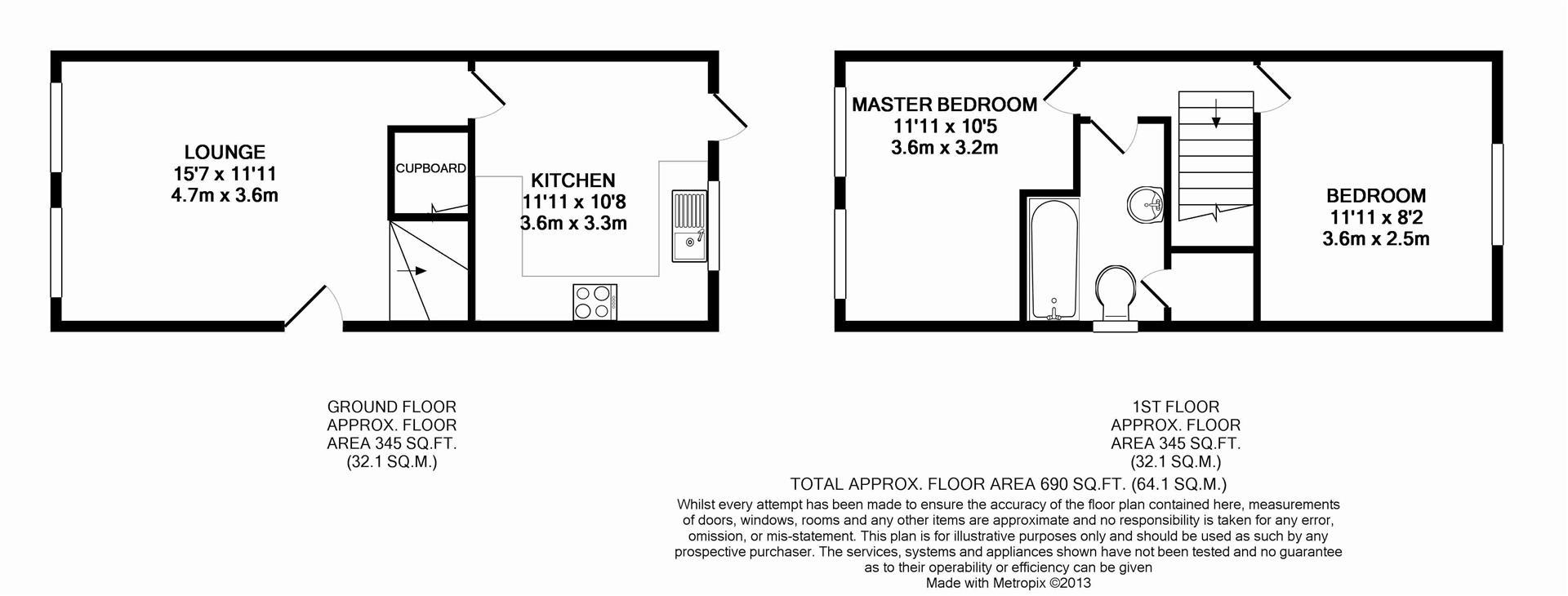 Floorplan for Chesworth Gardens, Horsham